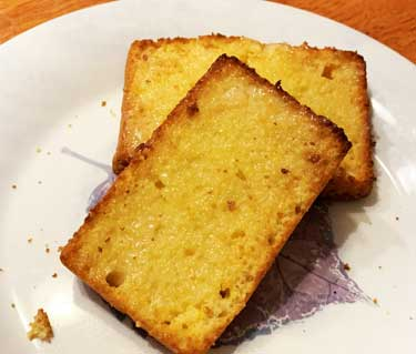 Cornbread Loaves Toasted with Garlic Butter
